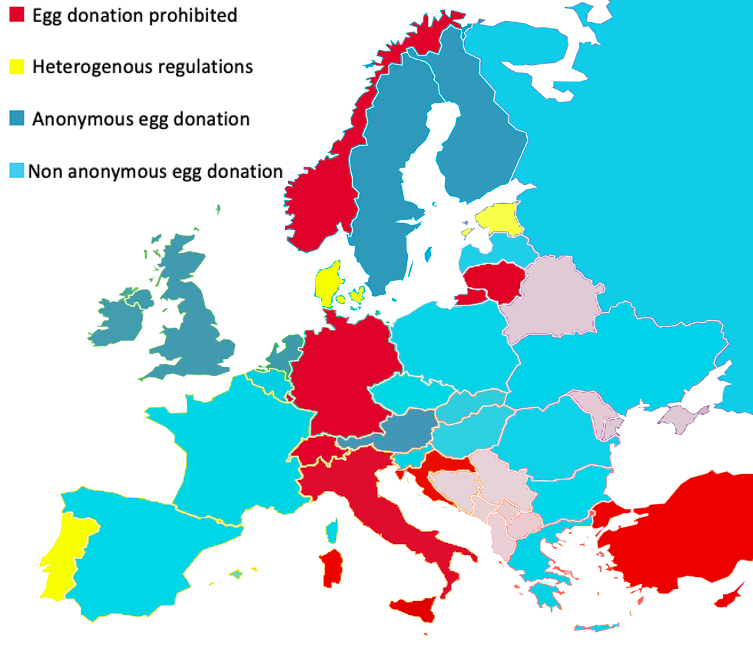 egg donation Europe anonymous
